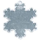 Пешеходный светоотражатель Снежинка, белый фото