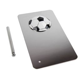 Плакетка наградная Футбол, серый фото