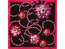 Платок Aprilia, черный, розовый фото