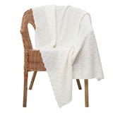 Плед Basket, молочно-белый фото