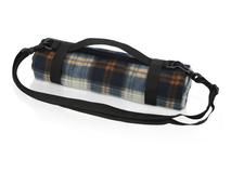 Плед для пикника с непромокаемой подкладкой и ремнем на плечо, синий, коричневый фото