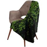 Плед Evergreen, черно-зеленый фото
