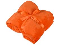 Плед мягкий флисовый Fancy, оранжевый фото