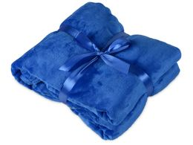 Плед мягкий флисовый Fancy, синий фото