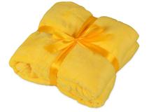 Плед мягкий флисовый Fancy, жёлтый фото