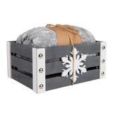 Плед новогодний GIFT в подарочной коробке, серый, белый фото
