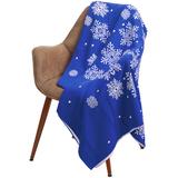 Плед Snow Fairy, синий (василек) фото