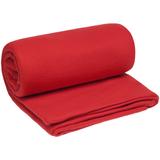 Плед-спальник дорожный Snug, флис, красный фото