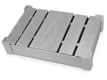 Подарочная деревянная коробка, серый фото