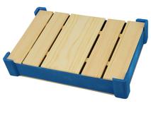 Подарочная деревянная коробка, коричневый/ синий фото