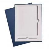 Подарочная коробка для набора c ложементом под ежедневник А5 и ручку, 210х280 мм, синяя фото