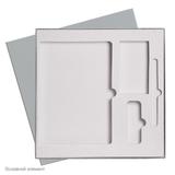 Подарочная коробка для набора универсальная, под съемные ложементы, серый фото