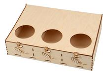 Подарочная коробка Лист, бежевый фото