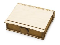 Подарочная коробка Тайна, коричневый, бежевый фото