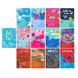 Подарочный набор 12 месяцев, 12 пар тематических носков и авторский календарь фото