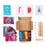 Подарочный набор 4 сезона, 4 пары тематических носков и авторский календарь фото