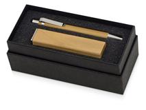 Подарочный набор Bali village с ручкой и зарядным устройством, коричневый фото