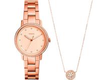 Подарочный набор: часы наручные женские, кулон фото