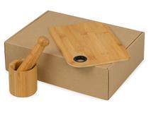 Подарочный набор Chef с кухонными аксессуарами из бамбука, бежевый фото