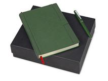 Подарочный набор Marseille-Saint-Just: ежедневник  А5, ручка шариковая, зелёный фото
