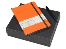 Подарочный набор Megapolis Soft: ежедневник А5 , ручка шариковая, оранжевый фото