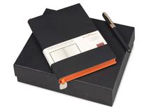 Подарочный набор Mercury: ежедневник А5, ручка шариковая, чёрный фото
