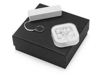 Подарочный набор Non-stop music с наушниками и зарядным устройством, белый фото