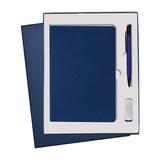 Подарочный набор Portobello Canyon: Ежедневник недатированный, Ручка, Флешка, синий фото
