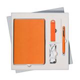 Подарочный набор Portobello/Latte (ежедневник недатированный, ручка, Power Bank), оранжевый фото