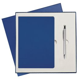 Подарочный набор Portobello Rain: Ежедневник недатированный, Ручка шариковая, синий фото