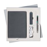 Подарочный набор Portobello/Rain серый-1 (Ежедневник недат А5, Ручка, Power Bank) фото