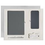 Подарочный набор Portobello Spark: Ежедневник недатированный, Ручка, Power Bank, серый фото