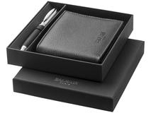 Подарочный набор Balmain: шариковая ручка, бумажник, черный фото