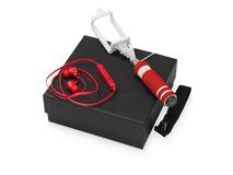Подарочный набор Selfie с Bluetooth наушниками и моноподом, красный фото