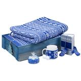 Подарочный новогодний набор Уютный зимний вечер, синий фото