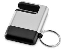 Брелок подставка для мобильного телефона с губкой для чистки экрана GoGo, черная фото