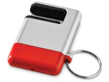 Брелок подставка для мобильного телефона с губкой для чистки экрана GoGo, красная фото
