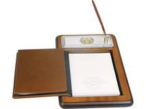Подставка для бумажного блока с ручкой и телефонной книжкой Голова льва, серый, коричневый фото