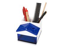 Подставка Милый домик, белый/ синий фото