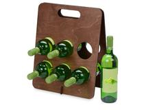 Подставка под винные бутылки Groot, коричневый фото