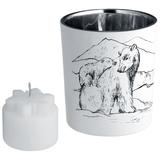 Подсвечник со свечой Forest, с изображением медведя фото