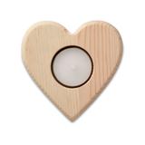 Подсвечник в форме сердца, бежевый фото