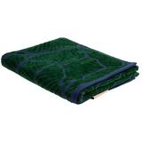 Полотенце In Leaf, малое, синее с зеленым фото