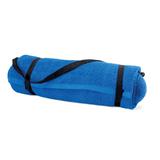 Полотенце пляжное с подушкой, синий фото