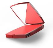 Внешний аккумулятор Hiper Mirror, 4000 mAh, встроенное зеркало, красный фото