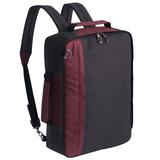 Рюкзак для ноутбука 2 в 1 twoFold, серый с бордовым фото