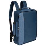 Рюкзак для ноутбука 2 в 1 twoFold, синий с темно-синим фото