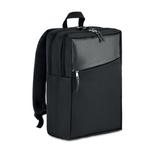 Рюкзак для ноутбука, отделка из кожзама, черный фото