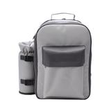 Рюкзак для пикника Дания на 4 персоны, серый фото