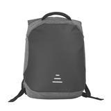 """Рюкзак """"Holiday"""" с USB разъемом и защитой от кражи, серый с черным фото"""